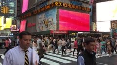 The busy city of NYC, New York, USA Stock Footage