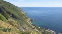 California State Route 1, Big Sur, from above Stock Footage
