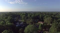 Aerial Flying Over Neighborhood Stock Footage