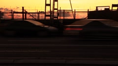 Rush Hour City Timelapse Traffic Commuter Congestion City Street Sunset Stock Footage