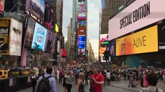 The famous Times Square in New York, USA Stock Footage