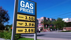 Rising Gas Prices - from $3.49 to $3.69 - stock footage