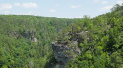 Timelapse of Hikers on Cliff at Fall Creek Falls Tennessee Stock Footage