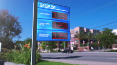 Falling Gas Prices - from $3.20 to $3.01 - stock footage
