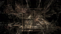 Abstract fractal forms morph and oscillate - Fractal 2003 HD, 4K - stock footage