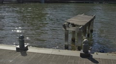 Melbourne old wooden dock Stock Footage