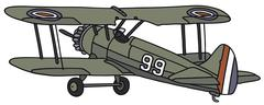Old biplane Stock Illustration
