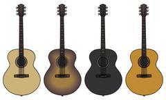 Acoustic guitars - stock illustration