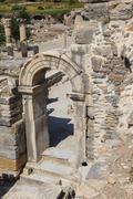 Doorway in ancient Roman ruins Stock Photos