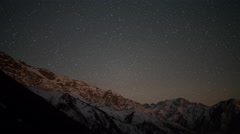 4k atlas mountains stars starlapse night sky astronomy Stock Footage