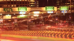 Vehicle Car Traffic Congestion City Street Night Traffic Rush Hour Time Lapse - stock footage