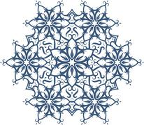 Abstract vector round lace design - mandala, decorative element. - stock illustration