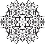 Abstract vector round lace design - mandala, decorative element. Stock Illustration