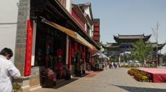 Pedestrian Shopping Street Kunming China Stock Footage