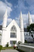 Singapore Landmark: St Andrews Cathedral Stock Photos