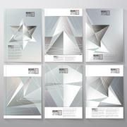 Polygon pattern with the reflection, minimalistic geometric facet crystal on Stock Illustration