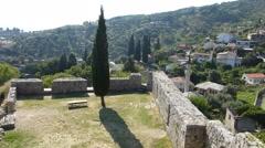 Stari Bar ruins in Montenegro Stock Footage