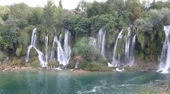 Kravica Waterfalls Stock Footage