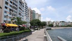 Stanley town and a tourist attraction in Hong Kong, it is located on a Hong Kong Stock Footage