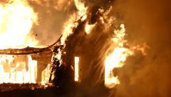 4K UHD - Smoke pouring out of holes through bricks  - stock footage