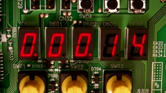 Bomb Detonator Countdown / LED electronic display Countdown Stock Footage