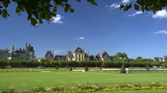 Grand Jardin - Chateau de Fontainebleau - Paris France - stock footage