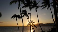 Sunset, Napili Beach, Maui, Hawaii Stock Footage