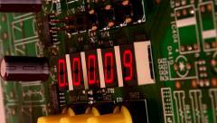 Bomb Detonator Countdown / LED electronic display Countdown - Angled - stock footage