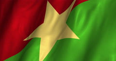 Burkina Faso waving flag 4K Stock Footage