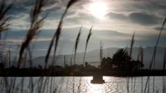 Stock Video Footage of 4k wetland delta ebro spain coast lagoon