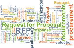 Request for proposal RFP background concept - stock illustration