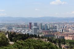 Stock Photo of Barcelona Panorama, Spain