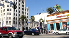 Hollywood and Highland Blvd Stock Footage