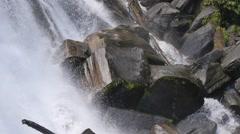 Waterfall big rocks - stock footage