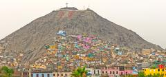 Barrios on an Urban Hill on Latin America - stock photo