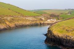 South West coast path near Port Quin Cornwall - stock photo