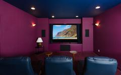 Home Theater inside modern home Stock Photos