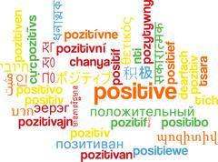 Stock Illustration of Positive multilanguage wordcloud background concept
