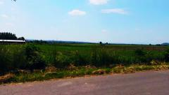 Driving A Car On A Country Road Backround Stock Footage
