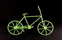 Stock Photo of Green Ancient  Bicycle