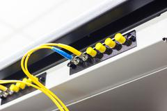 Fiber optic cable for network system Stock Photos