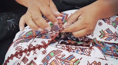 Mayan embroidery Stock Footage