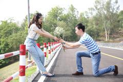 Asian pre wedding Stock Photos