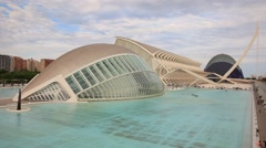 City of Arts and Sciences in Valencia - stock footage