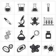 chemistry and biology icon set - stock illustration