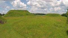 Etowah Indian Mounds Historical Site Near Cartersville, GA 05-30-2015 Stock Footage