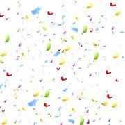 Stock Illustration of Bright shiny confetti on white background