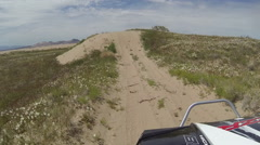 Riding recreation off road vehicle sand dunes Utah fast time lapse HD 349 Stock Footage