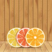Background with citrus fruits - stock illustration