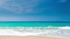 Idyllic sea coast landscape Stock Footage